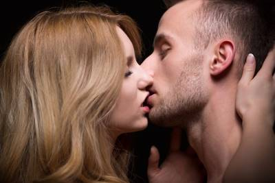 Woman Kissing Man Mystery Quiet