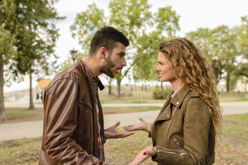 Bad Topic Talking Guy Talking To Woman