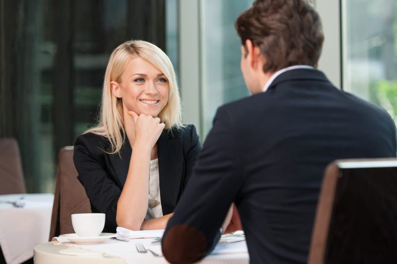 Man Woman Talking Attractive Challenge Conversation