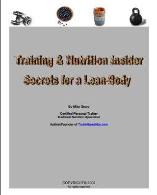 Training Nutrition Secrets Cover