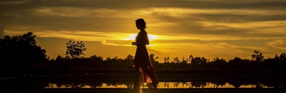Ideal Perfect Woman Sunset For You