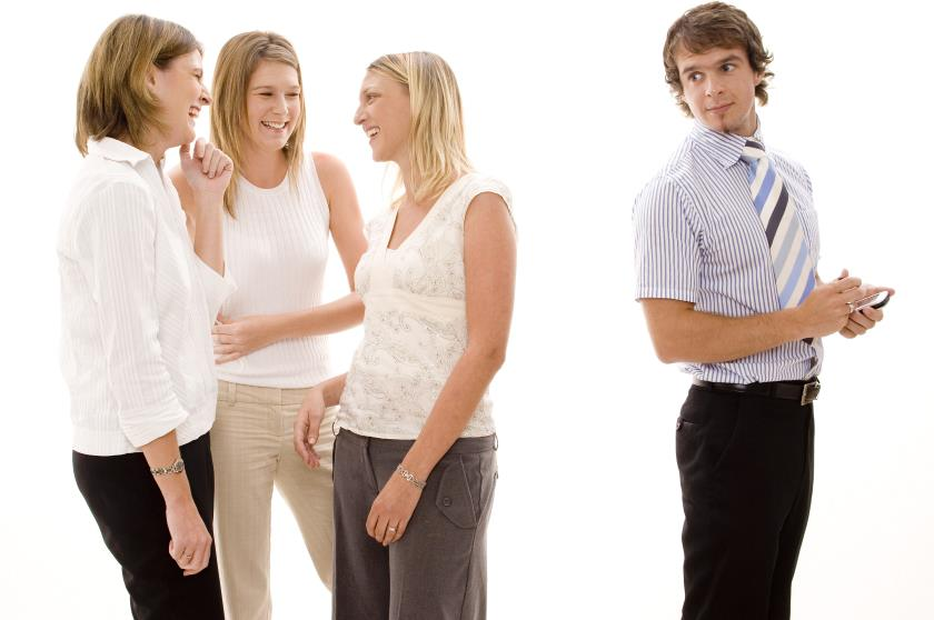 Woman Friends Not Approving Guy